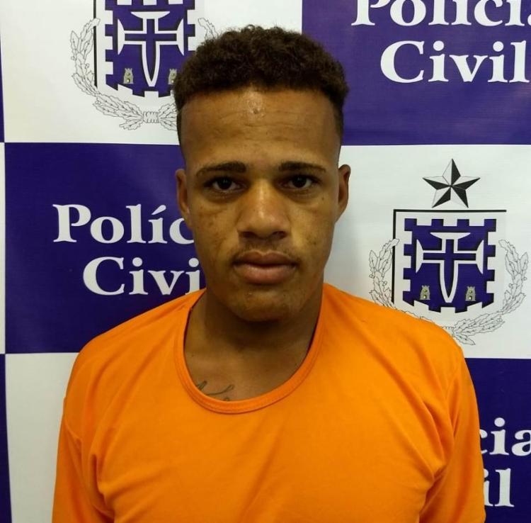 Jeílson foi encaminhado ao DHPP, onde foi efetuada a prisão preventiva - Foto: Divulgação | SSP-BA