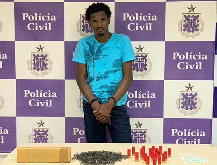 Jeferson foi encaminhado para o Departamento de Repressão e Combate ao Crime Organizado (Draco) - Foto: Divulgação | SSP-BA