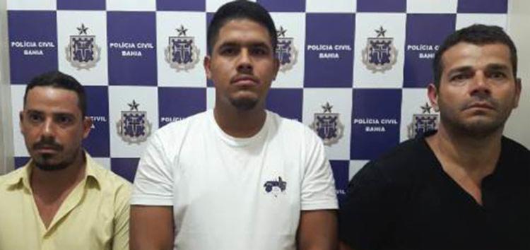 Dhiego Pereira de Sousa, de 36 anos, Demétrius Queiroz Guirra, 35, e Iago Novaes Lima, 27, já possuíam passagens pela polícia - Foto: Divulgação | Polícia Civil
