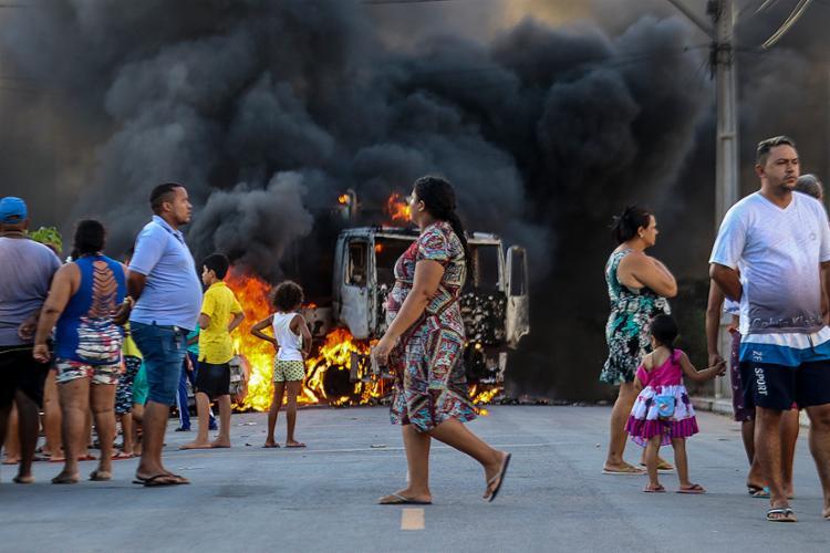 Nos últimos oito dias, foram registrados 185 ataques no Ceará - Foto: Alex Gomes | O Povo | AFP