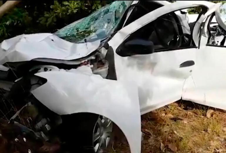 Duas crianças morrem e três adultos ficam feridos em acidente na BA-099 | Reprodução | TV Bahia
