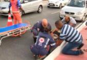 Mulher é atropelada na avenida Suburbana | Foto: Reprodução | TV Bahia