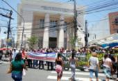 Policiais em Salvador protestam após advogado agredir agente civil | Foto: Joá Souza | Ag. A TARDE