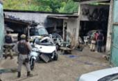 Quarto homens são presos em galpão de desmanche de carros | Foto: Divulgação | SSP