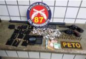 Suspeitos de roubo a joalheria e carro são presos em Teixeira de Freitas | Foto: SSP-BA