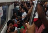 Roubo de cabos atrasa saídas na linha 2 do Metrô e deixa estações lotadas | Foto: Raphael Minho | Cidadão Repórter