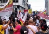Centrais Sindicais protestam em frente à sede da Previdência Social | Foto: Victor Rosa | Ag. A TARDE