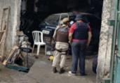 Homens são presos em galpão de desmanche de carros | Divulgação | SSP-BA