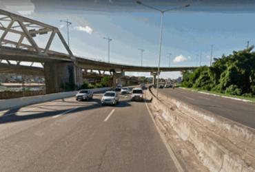Motociclista fica ferido após sofrer acidente no viaduto do Cabula | Reprodução | Google Maps