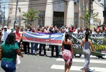 Policiais protestam após advogado agredir agente civil | Joá Souza | Ag. A TARDE
