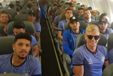 Bahia e Vitória retornam de jogos da Copa do Brasil no mesmo voo para Salvador | Foto: Divulgação | ECBahia