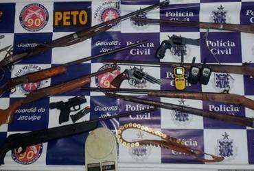 Quatro suspeito são presos com armas em Pé de Serra | Divulgação | SSP