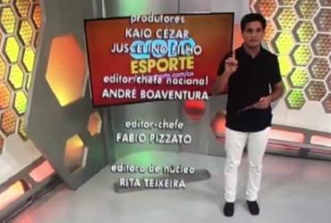Jornalista de esporte pede demissão durante programa e emissora se posiciona | Reprodução