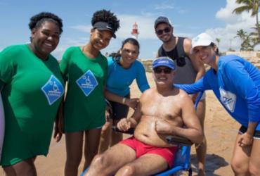 ParaPraia volta com ação itinerante na praia de Ondina   Divulgação