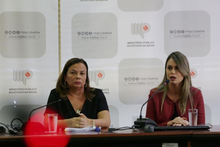 Promotora Karina Sena deu coletiva para explicar os próximos passos do inquérito (Foto: Raphael Muller | Ag. A TARDE)