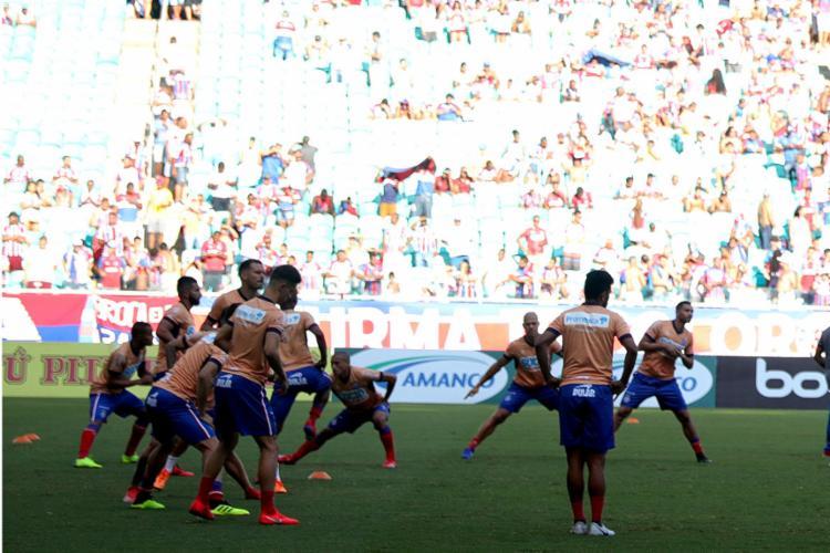 Setor Leste da Arena Fonte Nova é o que fica exposto ao sol em jogos durante a tarde (FOTO: Felipe Oliveira   EC Bahia)