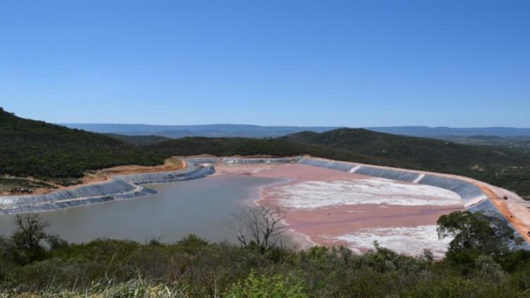 A barragem de rejeitos da Jacobina Mineração e Comércio (JMC) será a primeira no estado a passar pela inspeção - Foto: Divulgação MP-BA