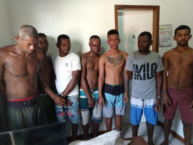 Suspeitos foram encaminhados à Delegacia Territorial de Maraú - Foto: Divulgação   SSP-BA