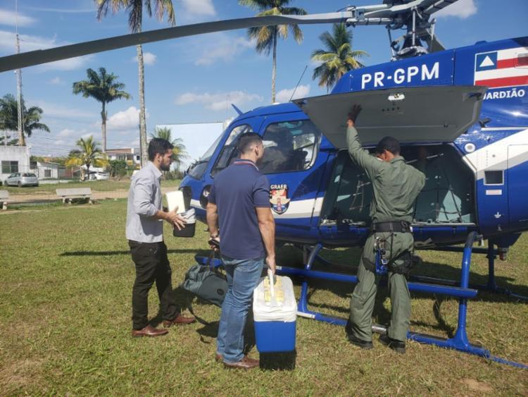 Os pacientes aguardavam os órgãos em Santo Antônio de Jesus - Foto: Divulgação | SSP-BA