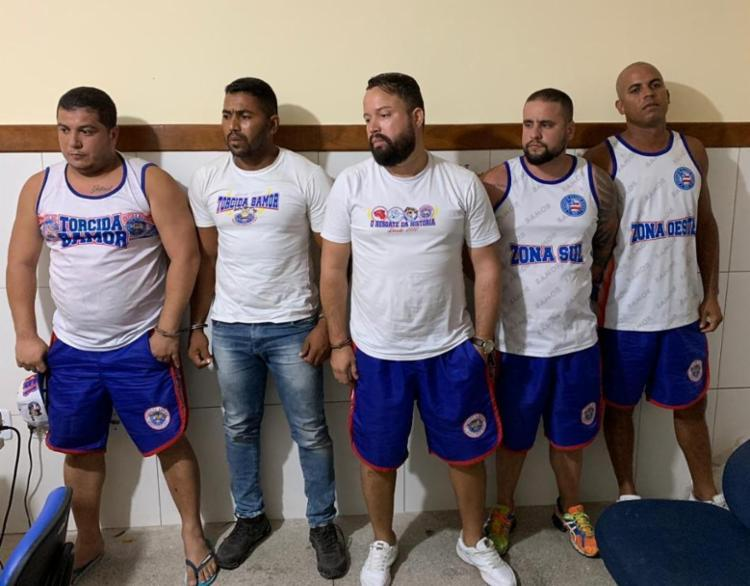 Os integrantes da organizada foram autuados por lesão corporal e formação de quadrilha - Foto: Divulgação | SSP-BA