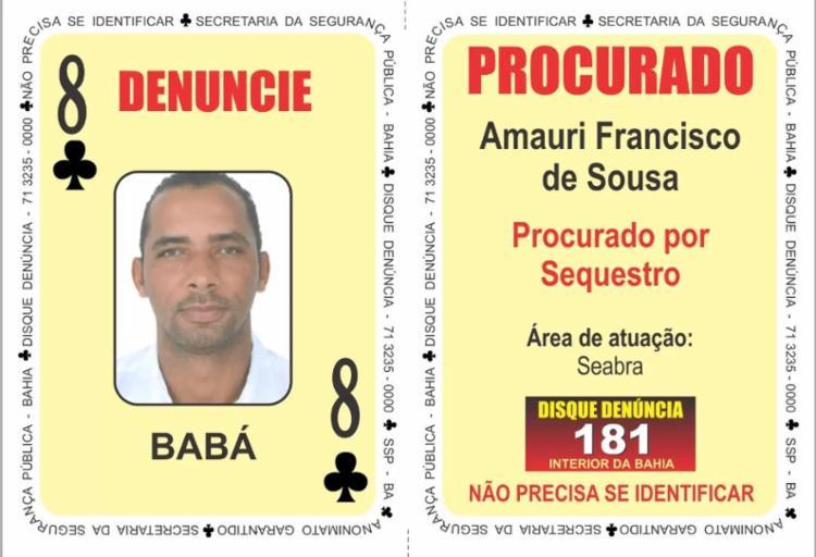 Suspeito era investigado por triplo homicídio ocorrido em Souto Soares - Foto: Divulgação | SSP-BA