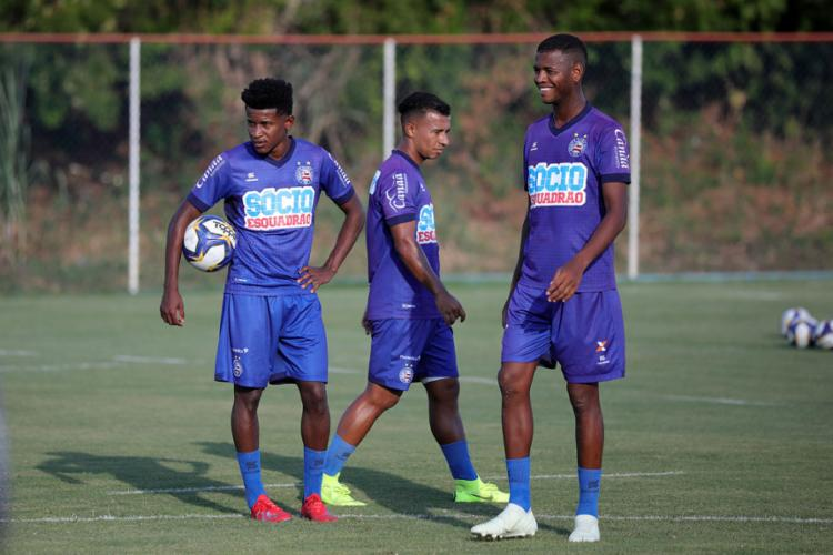 Os atletas realizaram um treino tático sob o comando técnico Enderson Moreira - Foto: Felipe Oliveira l EC Bahia