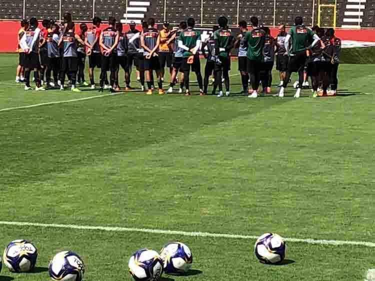Na manhã deste sábado, 2, os jogadores realizam um treino e em seguida, iniciaram a concentração na chácara Vidigal Guimarães - Foto: Reprodução | Esporte Clube Vitoria