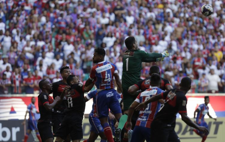 Leão conseguiu frear empolgação tricolor e buscou empate no primeiro clássico do ano - Foto: Adilton Venegeroles l Ag. A TARDE