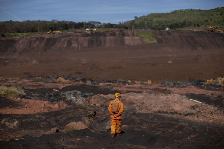 Brumadinho, onde barragem da Vale se rompeu - Foto: Mauro Pimentel l AFP