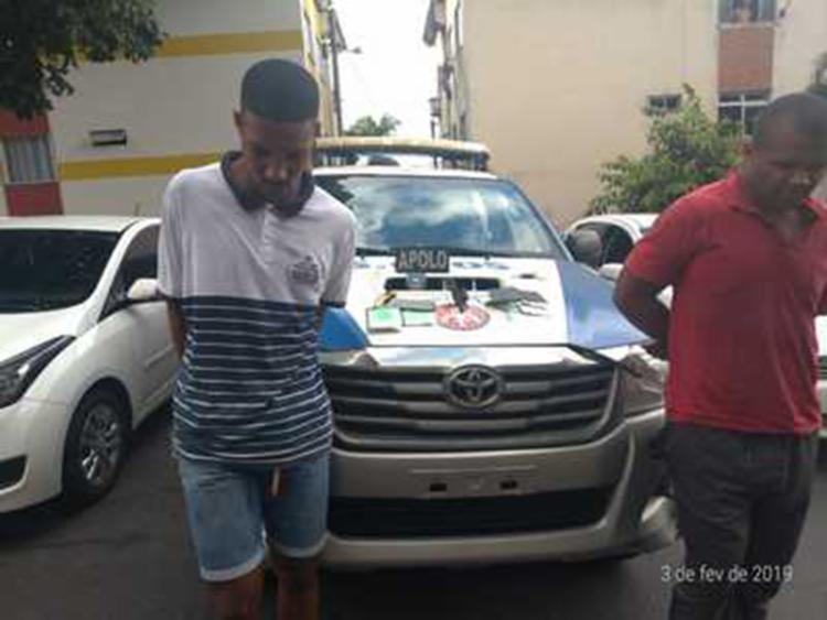 Homens são suspeitos de roubar dois automóveis - Foto: Divulgação   SSP