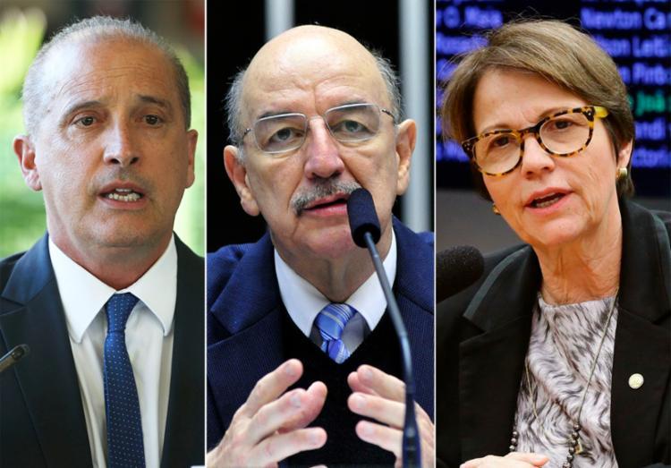 Onyx, Osmar Terra e Tereza Cristina deixam temporariamente as funções no Executivo - Foto: Divulgação
