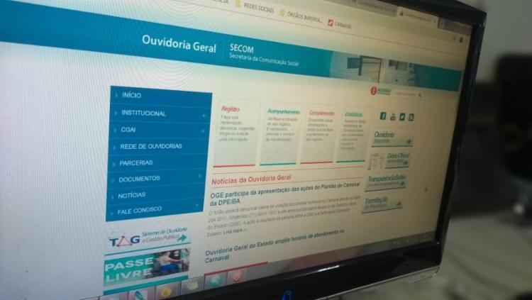 Site da OGE estará disponível para atendimento durante o Carnaval - Foto: Keyla Pereira | Ag. A TARDE