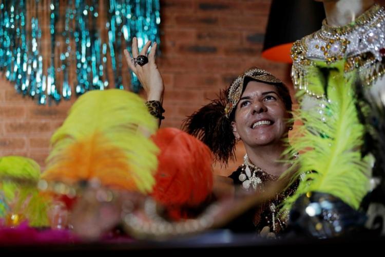 Fábio Sande entrou n'As Muquiranas em 2015, com a fantasia de baiana - Foto: Adilton Venegeroles / Ag. A TARDE