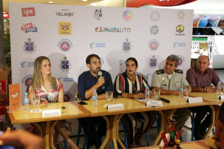 Lançamento da operação ocorreu na manhã desta quarta, 20, no Shopping da Bahia - Foto: Alberto Maraux   Divulgação   SSP-BA