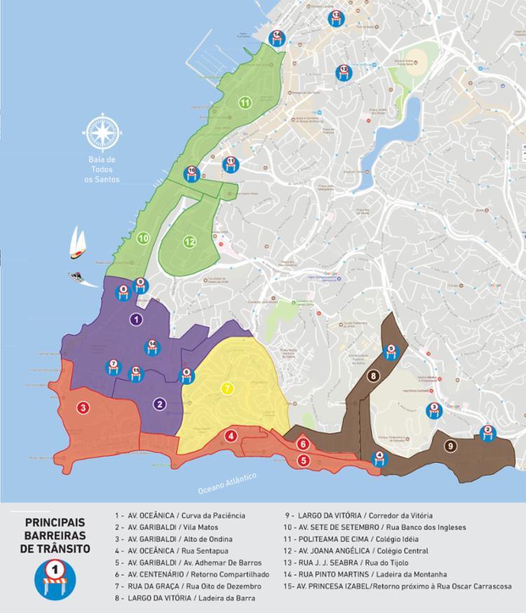 Os moradores receberão credenciais de acordo com essas subáreas.