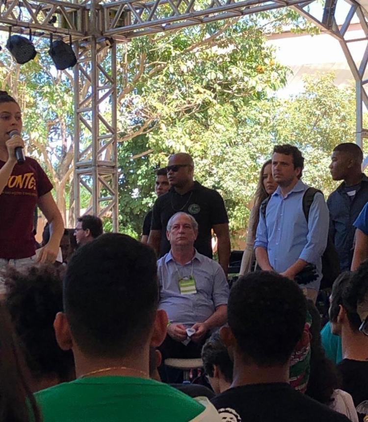 Ciro Gomes causou alvoroço no evento após dar declarações polêmicas. - Foto: Foto: Aline Laranjeiras