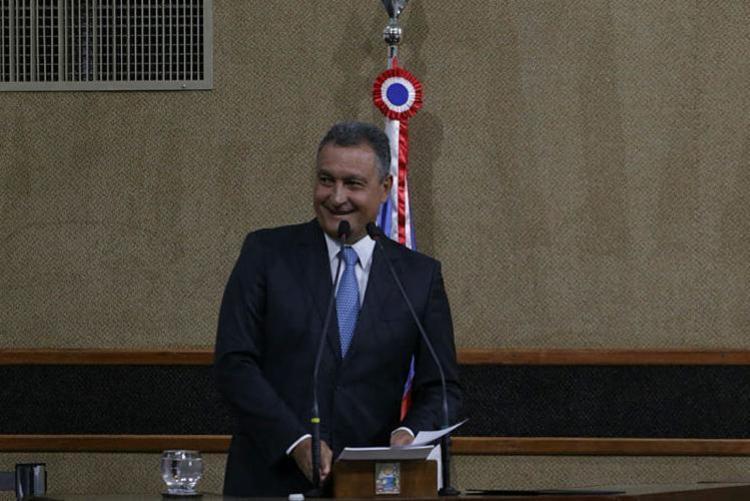 A informação foi divulgada pelo governador baiano Rui Costa no seu discurso de posse do segundo mandato - Foto: Raphael Müller | Ag. A TARDE