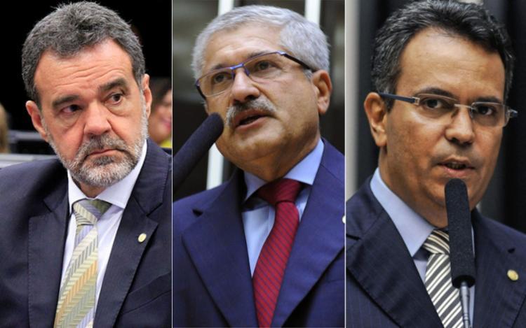 Os deputados Daniel Almeida (PCdoB), Zé Rocha (PR) e Félix Mendonça Jr. (PDT) querem evitar bate-chapa - Foto: Alvaro Portugal | PCdoB e Divulgação