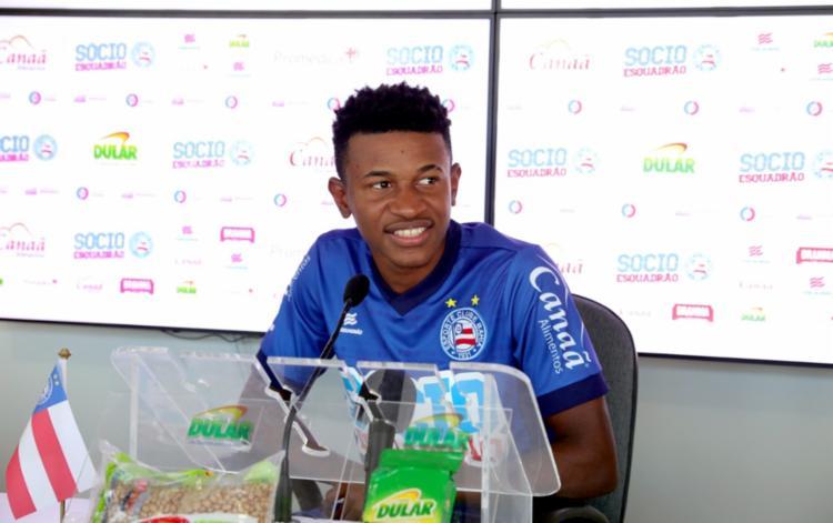 Meia passará por avaliação para saber se possui condições de entrar em campo neste domingo, 17 - Foto: Felipe Oliveira | Esporte Clube Bahia