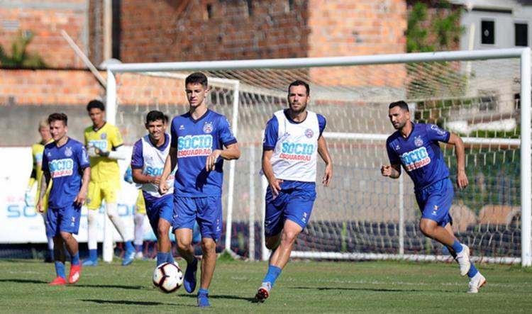 Elenco também fez treino de cobrança e defesas de pênaltis - Foto: Foto: Felipe Oliveira | EC Bahia