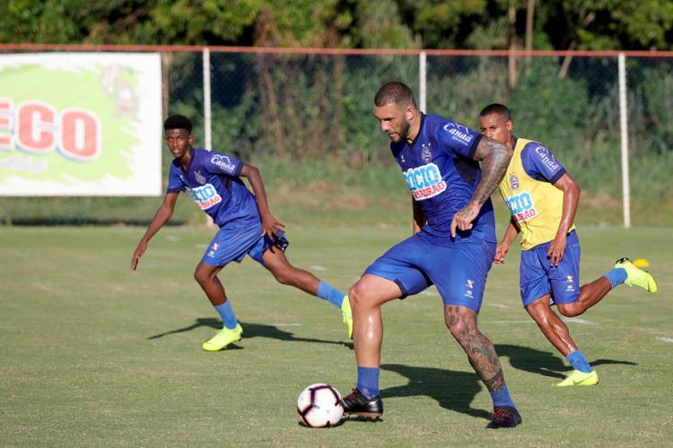 Fernandão busca melhor forma para atuar em alto nível novamente - Foto: Felipe Oliveira l ECBahia