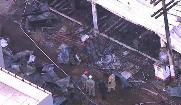 Incêndio no CT do Flamengo deixou 10 mortos e três feridos - Foto: Reprodução | TV Globo