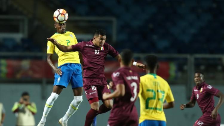 Foi a primeira derrota do Brasil para a Venezuela na categoria sub-20 na história - Foto: Lucas Figueredo   CBF