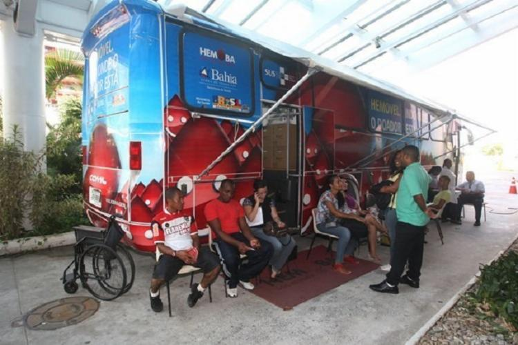 As unidades móveis da Hemoba estarão disponíveis em Salvador, Feira de Santana, Jiquiriça, Mutuípe e Varzedo. - Foto: Divulgação | Eloi Corrêa | GOV-BA
