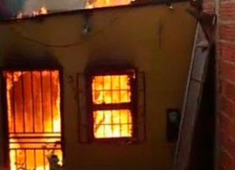 Incêndio teve início na noite desta terça-feira - Foto: Divulgação | Verdinho Notícias