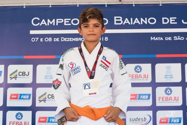 Judoca Ricardo Góes do sub-13 já mira o campeonato brasileiro - Foto: EC Vitória
