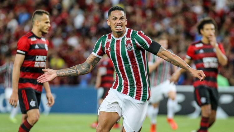 O atacante Luciano foi o autor do gol da vitória do Flu por 1 a 0 sobre o rival Fla - Foto: Lucas Merçon l Fluminense FC