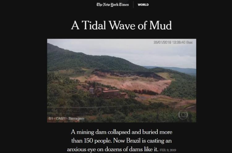 Reportagem destaca que destaca que outra tragédia desta magnitude pode acontecer novamente - Foto: Reprodução   NYT