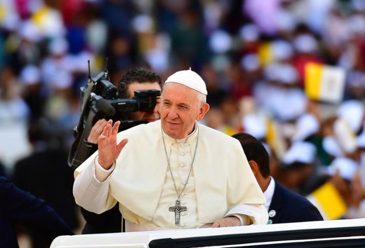 O pontífice disse que recebeu uma carta do presidente venezuelano, Nicolás Maduro, mas ainda não leu - Foto: Foto: Giuseppe Cacace | AFP