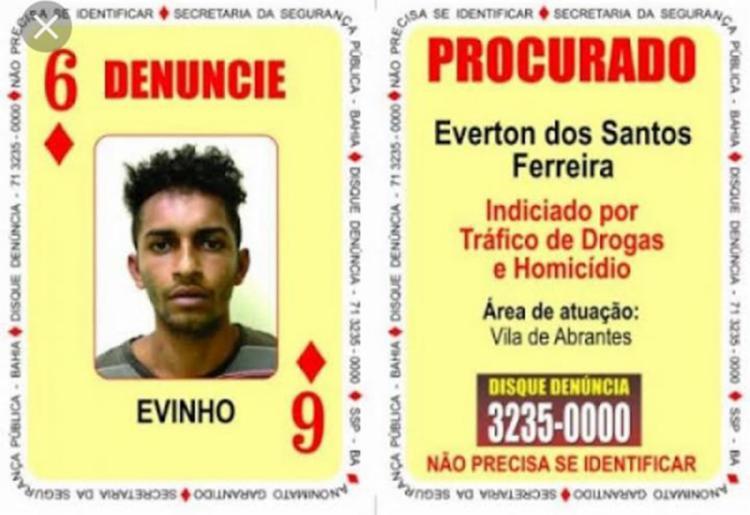 Suspeito era investigado por participações em pelo menos 20 homicídios na região de Vila de Abrantes - Foto: Divulgação   SSP-BA